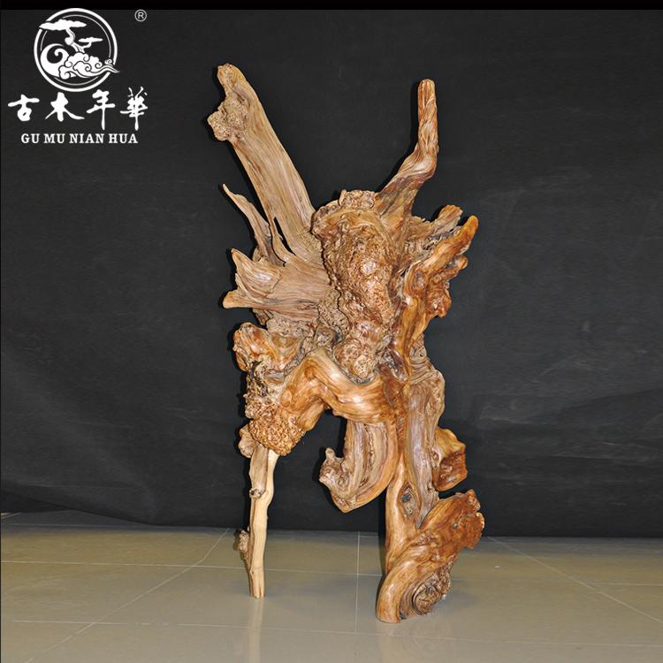 古木年华的崖柏根雕制作过程