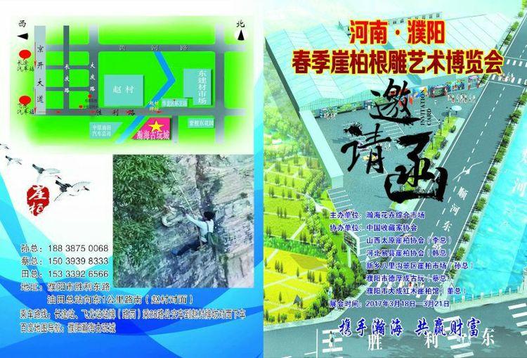 河南.濮阳.瀚海古玩城2017首届崖柏根雕艺术博览会