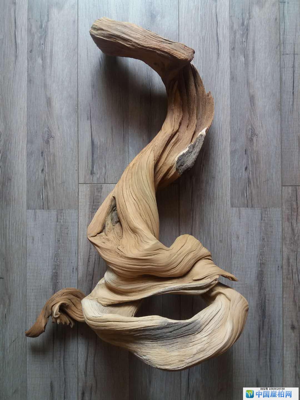 《修行》 崖柏作品 高55厘米、重5,5斤