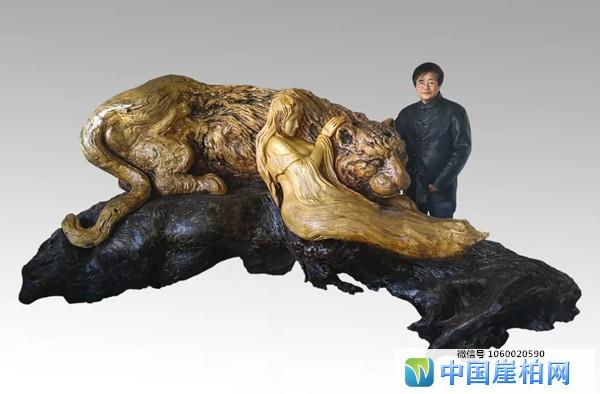 《美女与野兽》 黄榕国作,第十四届中国工艺美术大师博览会金奖