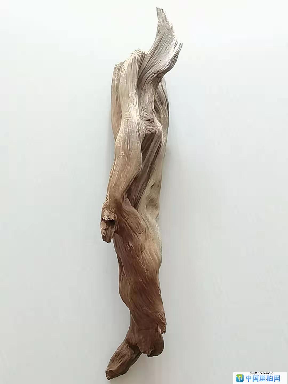 《靓影》 崖柏作品 高39厘米   重650克