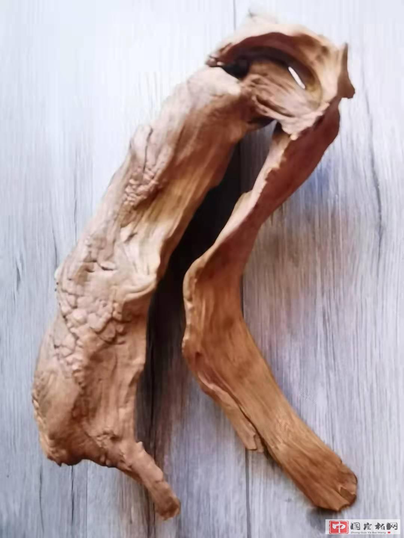 《蓑笠翁》崖柏作品 高23厘米  重260克