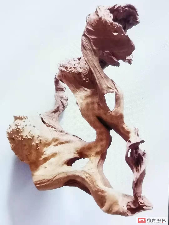 《形与影》杉木作品 高42厘米  重1150克