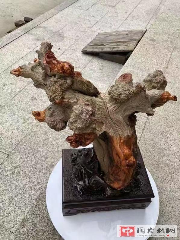 崖柏底座,几十块的木头成本,凭啥收几百上千